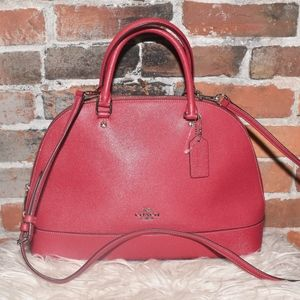 COACH Pink Leather Doctors Bag with Long Strap